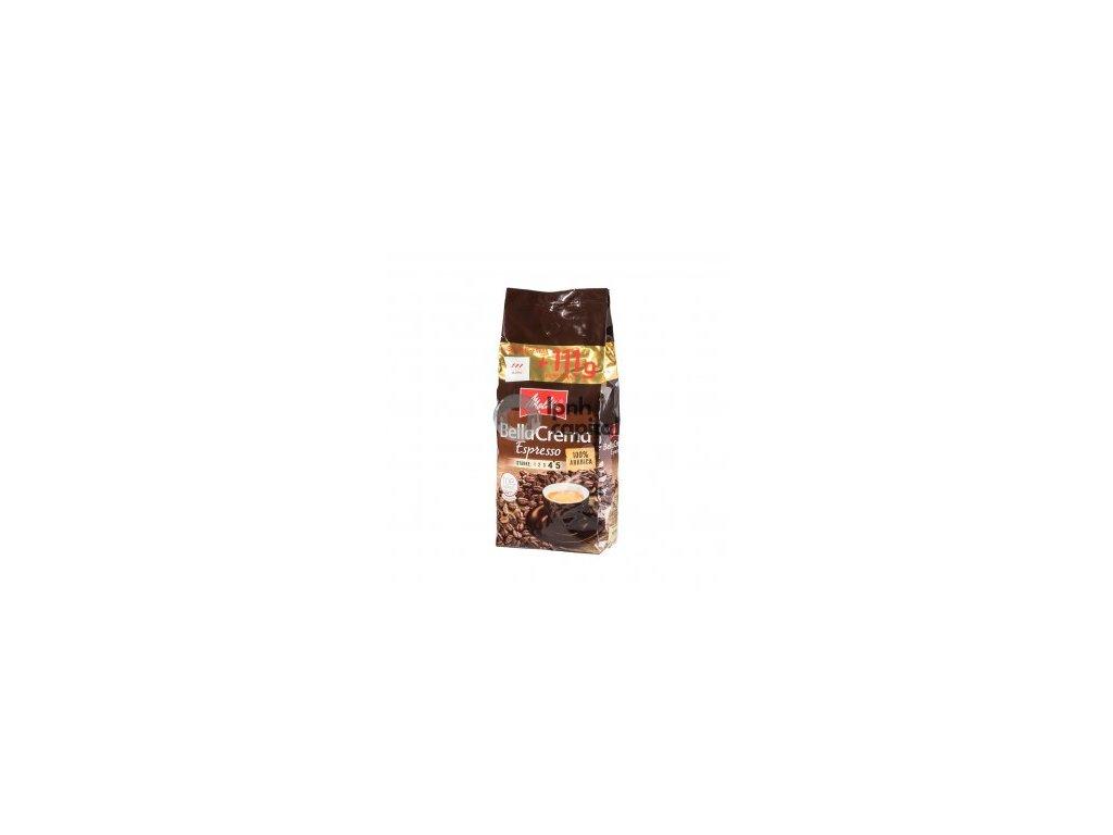 Melitta Belacrema Espresso zrnková káva 100% ARABICA 1kg